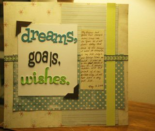Dreams goals and wishes