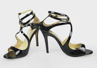 Newest Jimmy choo lance mirrored sandals Black_8