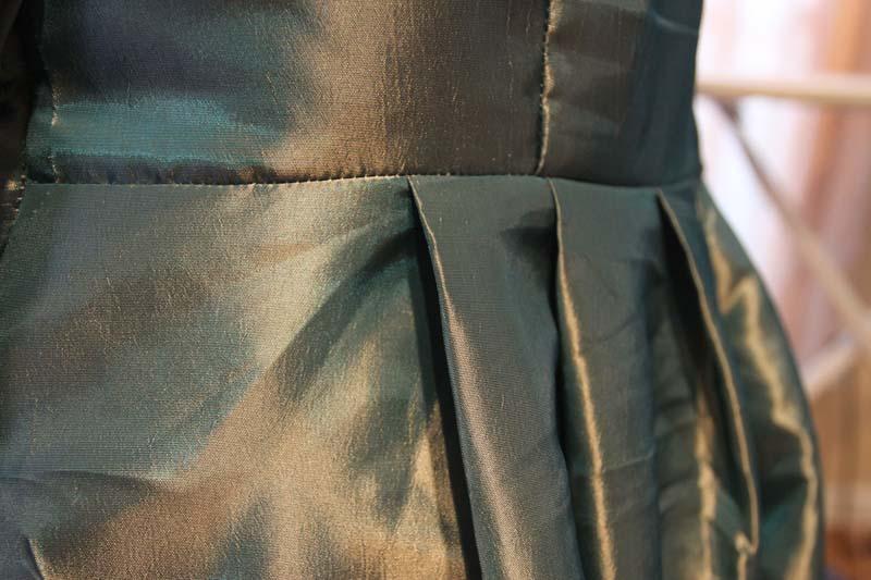 Back pleats