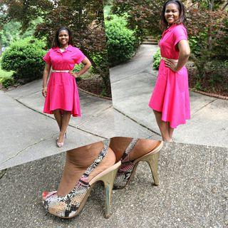 High Low Linen Dress