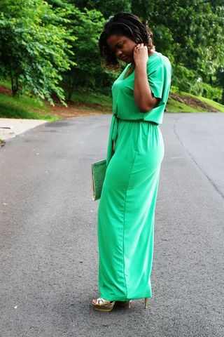 Green maxi dress 2