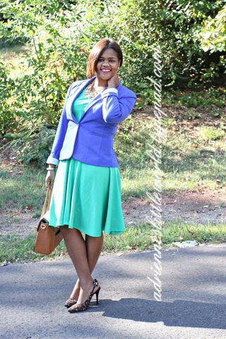 Grenn dress and jacketa