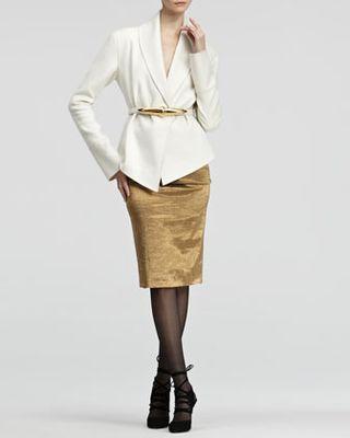 Donna Karan Metallic Pull-On Skirt