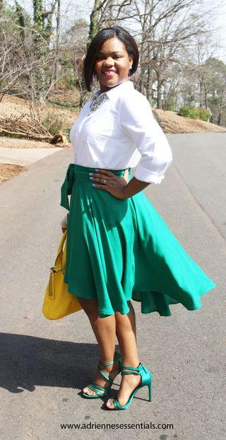 Green skirt2a