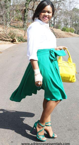 Green skirt5a