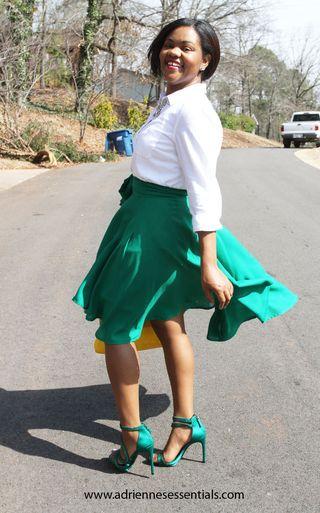 Green skirt3a