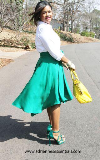 Green skirt8a
