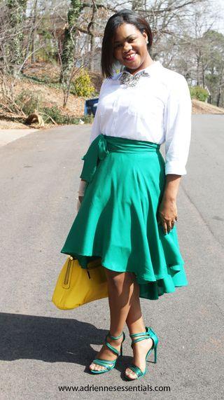 Green skirt6a
